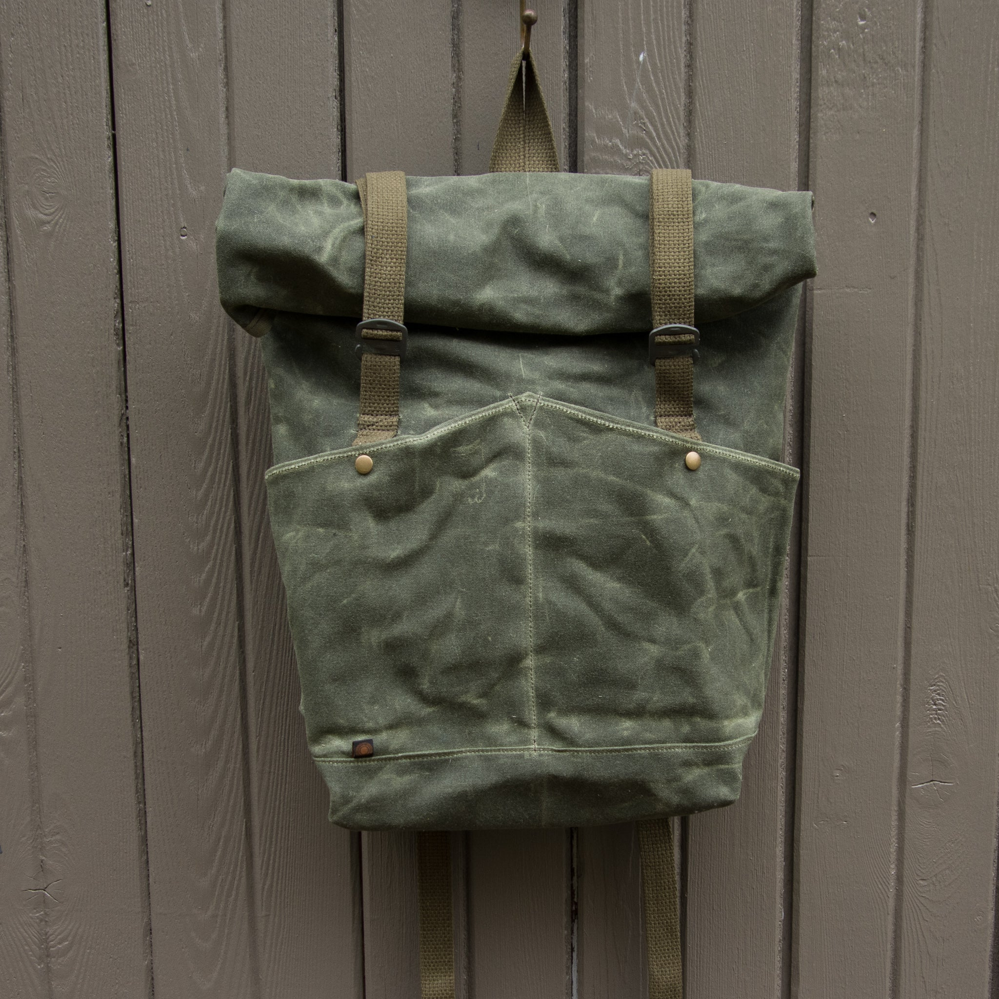 ROLL TOP BACKPACK- Olive