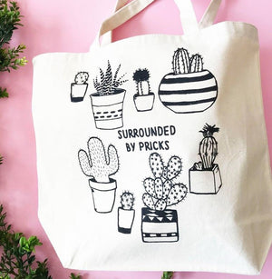 Surrounded by Pricks Tote Bag