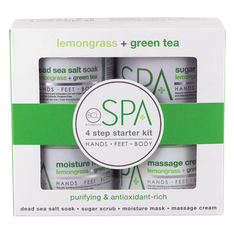 Spa Organics Lemongrass + Green Tea Starter 4-Piece Kit