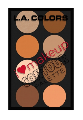 L.A. Colors I Heart Make Up Contour Palette Medium/Deep