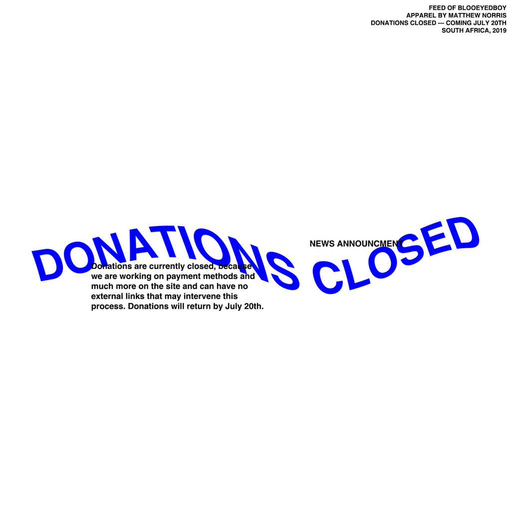 DONATIONS CLOSED