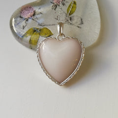 Heart pendant with lining