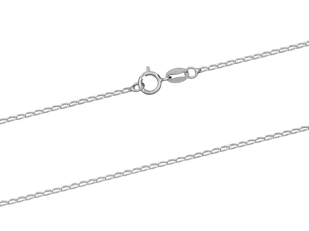 Silver Curb Chain, diamond cut