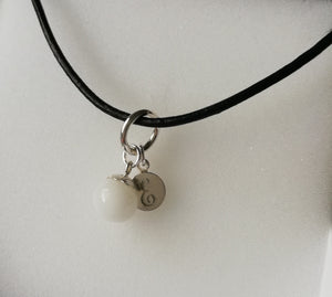 BM-jewelry™ Mother´s Pearl pendant with large ring