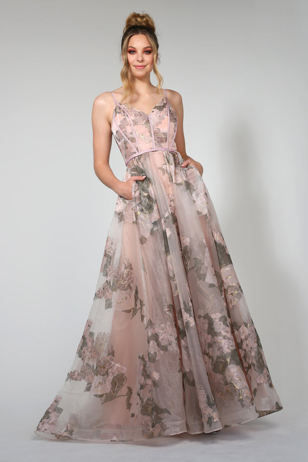 Tina Holly Couture Designer TA616 Pink 3D Lace Formal Dress {vendor} AfterPay Humm ZipPay LayBuy Sezzle