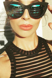 Quay Australia KITTI Black & Blue Designer Sunglasses , Sunglasses - QUAY Australia, One Honey Boutique  - 1