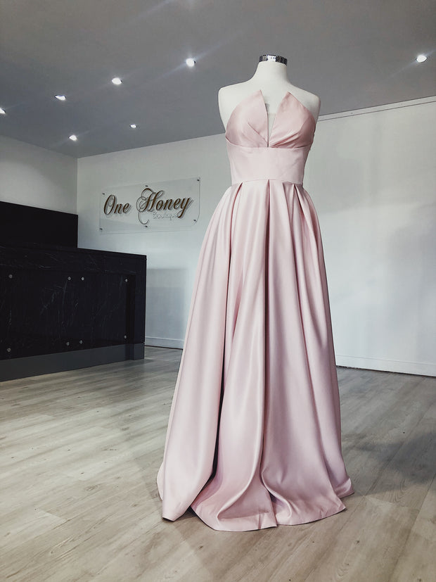 Honey Couture LAYLAH Strapless Custom Made Formal Dress {vendor} AfterPay Humm ZipPay LayBuy Sezzle