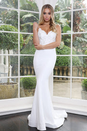 Tinaholy Couture Designer T1809 White Formal Wedding Gown Dress {vendor} AfterPay Humm ZipPay LayBuy Sezzle