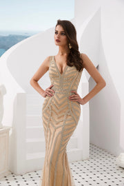 DIAMONDS 2.0 Thick Strap Gold Diamante Sequin Formal Gown Private Label$ AfterPay Humm ZipPay LayBuy Sezzle