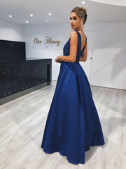 MONICE Royal Blue Beaded Ball Gown Formal Dress Private Label$ AfterPay Humm ZipPay LayBuy Sezzle