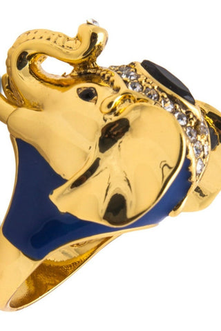 Kardashian Kollection Gold Circus Elephant Ring Kardashian Kollection One Honey Boutique AfterPay ZipPay OxiPay Laybuy Sezzle Free Shipping