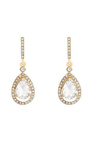 Honey Couture Gold & Silver Teardrop Bridal Earrings Honey Couture Jewellery$ AfterPay Humm ZipPay LayBuy Sezzle