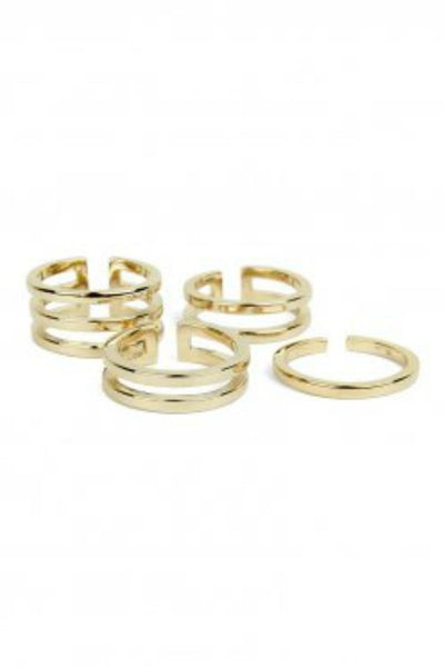 Bowie Accessories Symmetry Stackable Ring in Gold Australian Online Store One Honey Boutique AfterPay ZipPay