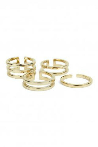 Bowie Accessories Symmetry Stackable Ring in Gold