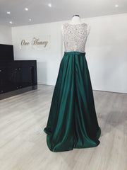 Honey Couture BROYN Silver Diamante Front Princess Ball Formal Gown Dress {vendor} AfterPay Humm ZipPay LayBuy Sezzle