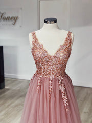 Honey Couture SKYLAR 3D Flowers Tulle Formal Gown Dress Honey Couture Custom$ AfterPay Humm ZipPay LayBuy Sezzle