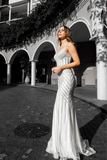 Honey Couture DIAMONDS White Sequin Mermaid Formal Wedding Gown DressPrivate LabelOne Honey Boutique AfterPay OxiPay ZipPay