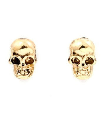 Small Gold Skull Head Earrings One Honey Boutique$ AfterPay Humm ZipPay LayBuy Sezzle