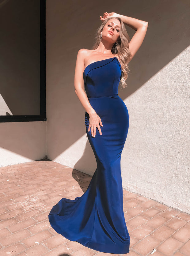 Tinaholy Couture Designer BA227 Navy Blue Strapless Mermaid Formal Dress Tina Holly Couture$ AfterPay Humm ZipPay LayBuy Sezzle