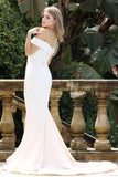 Tinaholy Couture BA306 Alabaster French Satin Off Shoulder Mermaid DressTina Holly CoutureOne Honey Boutique AfterPay OxiPay ZipPay