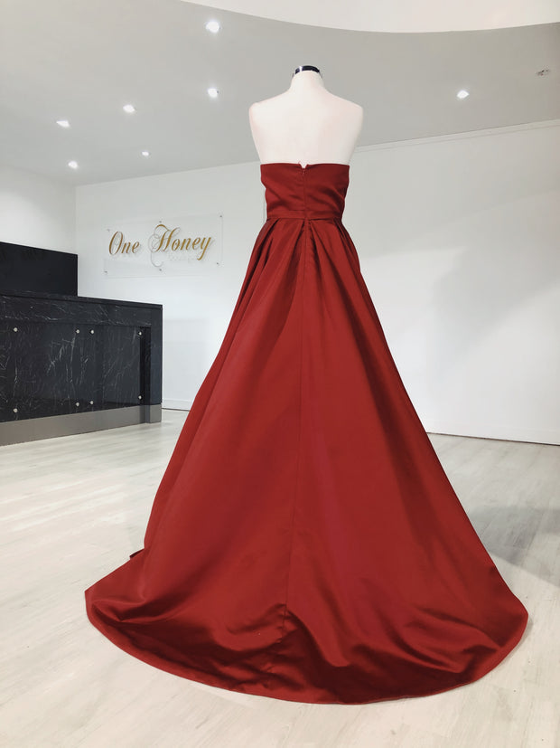 Honey Couture VICTORIA Strapless Custom Made Formal Dress {vendor} AfterPay Humm ZipPay LayBuy Sezzle