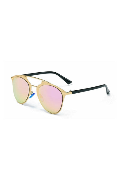 Rose Gold w Green Lense Inspired Sunglasses