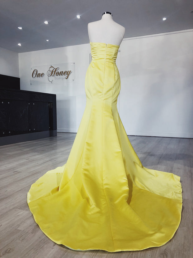 Honey Couture DAISY Strapless Custom Made Formal Dress {vendor} AfterPay Humm ZipPay LayBuy Sezzle
