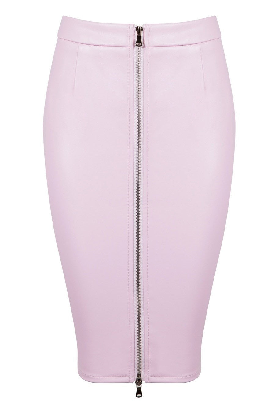Honey Couture ZOE Pink Vegan Leather Zip Front Pencil Skirt Australian Online Store One Honey Boutique AfterPay ZipPay