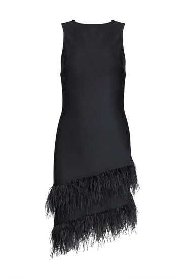 Honey Couture NIXIE Black Sleeveless Feather Mini DressHoney CoutureOne Honey Boutique AfterPay OxiPay ZipPay