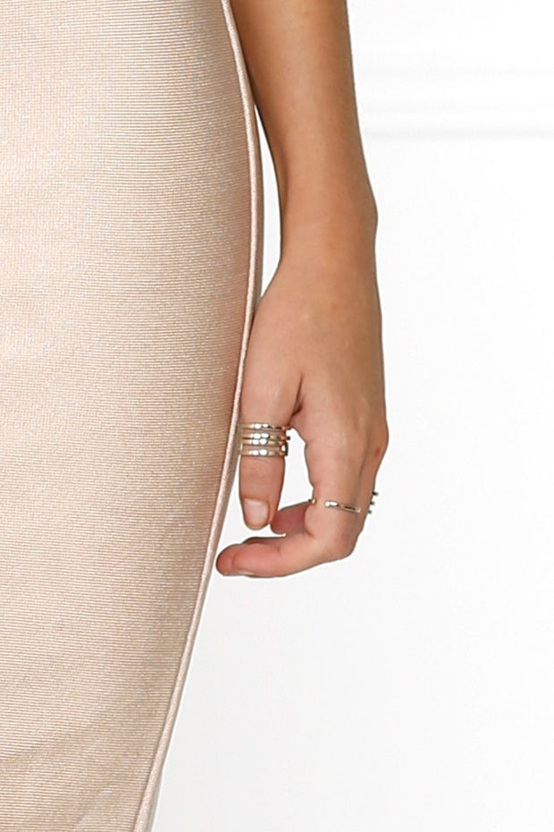 Bowie Accessories Symmetry Stackable Ring in Gold Bowie Accessories$ AfterPay Humm ZipPay LayBuy Sezzle