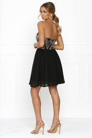 Passion Fusion Black Sherri Sequin Formal Dress Passion Fusion One Honey Boutique AfterPay ZipPay OxiPay Laybuy Sezzle Free Shipping