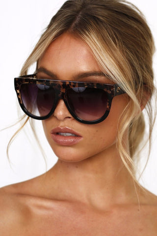 Honey Couture SELENA Tortoise Flat Top Inspired Sunglasses Honey Couture One Honey Boutique AfterPay ZipPay OxiPay Laybuy Sezzle Free Shipping