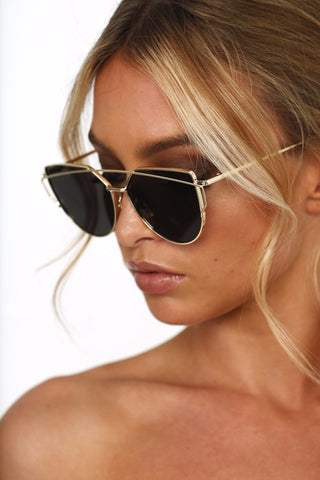 Honey Couture Black & Gold Sunglasses Australian Online Store One Honey Boutique AfterPay ZipPay