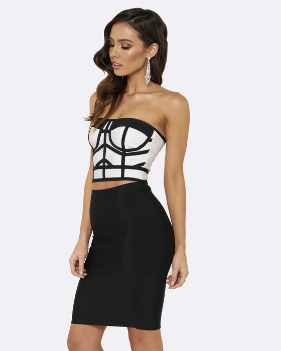 8e3a6d530a1 Honey Couture MADISON Black  amp  White 2 Piece Bandage SetHoney CoutureOne  Honey Boutique AfterPay OxiPay