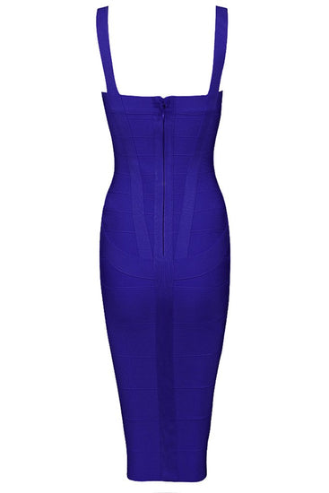Honey Couture LEONIE Dark Blue Midi Bandage DressHoney CoutureOne Honey Boutique AfterPay OxiPay ZipPay