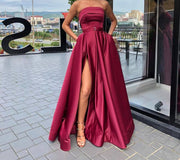 EVIE Red Strapless Formal Gown {vendor} AfterPay Humm ZipPay LayBuy Sezzle
