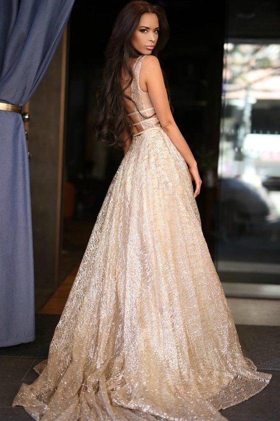 Honey Couture DAZZLING Gold Sequin Princess Formal Gown DressHoney Couture CustomOne Honey Boutique AfterPay OxiPay ZipPay