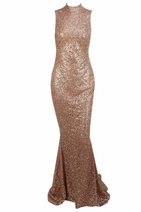 Honey Couture AMELIE Gold & Nude Glitter Mermaid Formal Gown DressHoney CoutureOne Honey Boutique AfterPay OxiPay ZipPay
