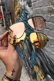 Quay Australia x Desi Perkins GREEN & GOLD Mirror High Key Designer Sunglasses QUAY Australia One Honey Boutique AfterPay ZipPay OxiPay Laybuy Sezzle Free Shipping