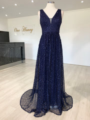 MELINA Navy Blue Sequin Glitter Knit Formal Dress {vendor} AfterPay Humm ZipPay LayBuy Sezzle