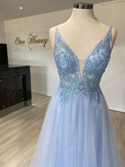 Honey Couture BESS Tulle & Lace Made To Order Formal Dress