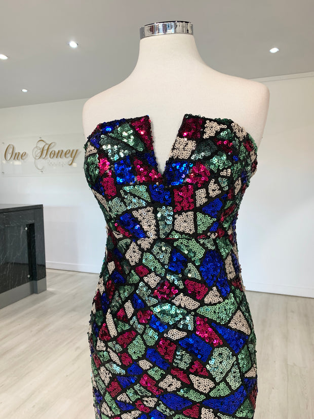 Honey Couture ELTON Strapless Mermaid Evening Gown Dress {vendor} AfterPay Humm ZipPay LayBuy Sezzle
