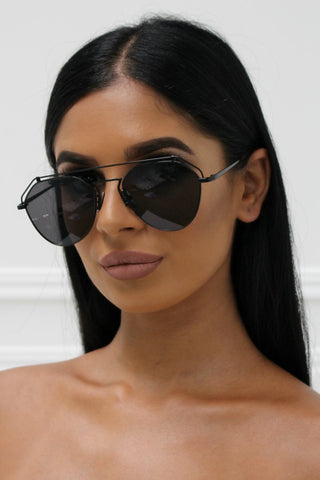 Honey Couture AMY Black on Black Sunglasses
