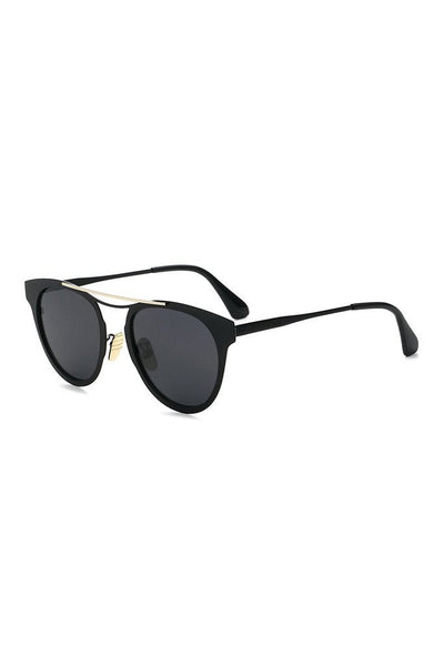 Honey Couture MONIQUE Black & Gold Sunglasses