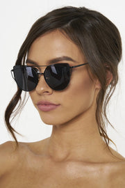 Honey Couture KOURTNEY Black on Black Sunglasses Honey Couture One Honey Boutique AfterPay ZipPay OxiPay Laybuy Sezzle Free Shipping