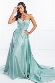 Honey Couture TORI Pastel Green Formal Dress