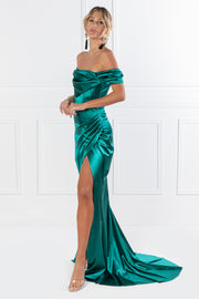 Honey Couture ESMERELDA Emerald Green Formal Dress {vendor} AfterPay Humm ZipPay LayBuy Sezzle