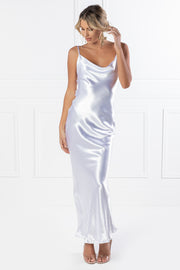 Honey Couture EVELYN White Silky Slip Formal Dress {vendor} AfterPay Humm ZipPay LayBuy Sezzle