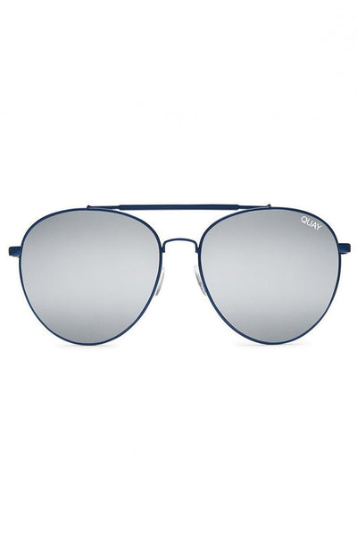 Quay Australia LICKETY SPLIT Blue Silver Designer Sunglasses