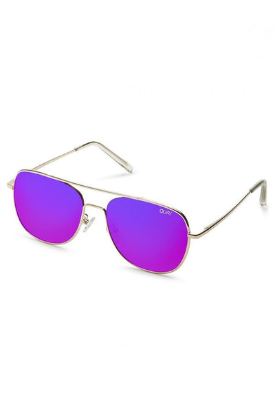 Quay Australia RUNNING RIOT Gold Pink Designer Sunglasses Australian Online Store One Honey Boutique AfterPay ZipPay